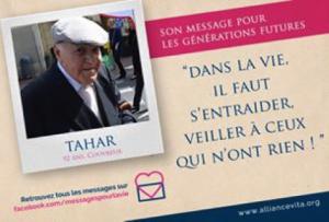 Message pour la vie - Tahar - Personne âgée