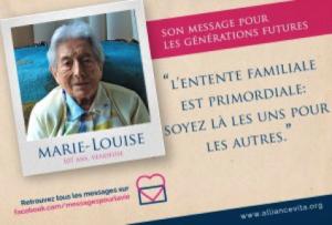 Message pour la vie - Marie-Louise - Personne âgée