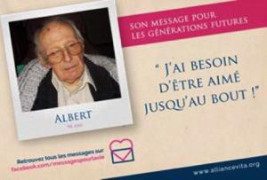 Message pour la vie - Albert - Personne âgée